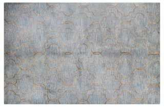 Curtain Rug, Gray/Blue - 7'9x9'9 - One Kings Lane
