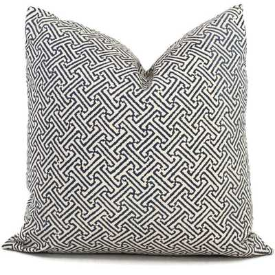 Quadrille Blue Java Java OUTDOOR Pillow Cover - Etsy