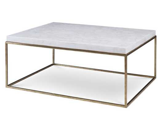 BRASS/CRYSTAL STONE COCKTAIL TABLE - Curated Kravet