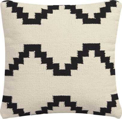 """Zbase 16"""" pillow with down-alternative insert, Solid Ivory - CB2"""