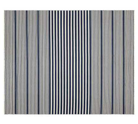 Kyle Stripe Hand-Loomed Rug - Navy-5' x 8' - Pottery Barn
