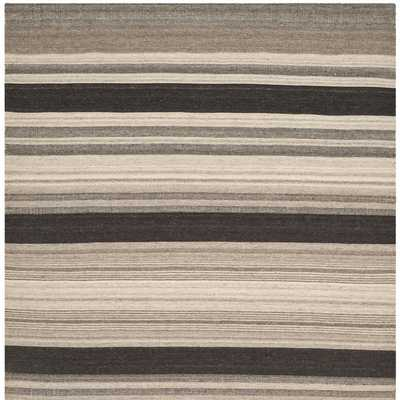 Safavieh Handwoven Moroccan Reversible Dhurrie Natural Wool Area Rug (6' Square) - Overstock