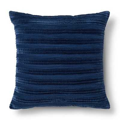 "Thresholdâ""¢ Pleated Textured Toss Pillow -20"" x 20""-Polyester insert-Blue - Target"