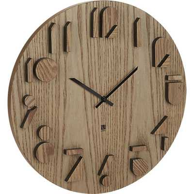 Shadow wall clock - CB2