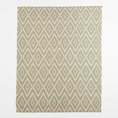 Kite Wool Kilim Rug - Flax - 8' x 10' - West Elm