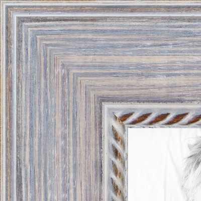 Distressed White frame - arttoframe.com