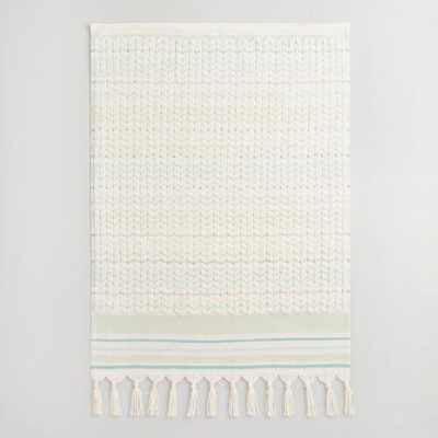 Mint Riley Sculpted Hand Towel - World Market/Cost Plus