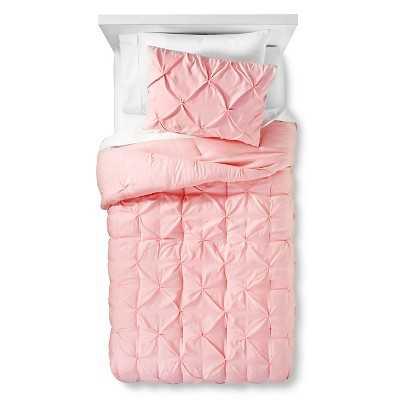 Pinch Pleat Comforter Set -Light Pink-Twin - Target