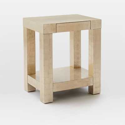 Parsons End Table - Silver Leaf-Champagne - West Elm