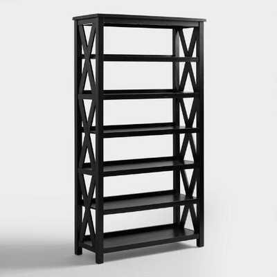 Antique Black Verona Six-Shelf Bookcase - World Market/Cost Plus