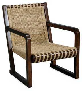 West Accent Chair, Cream - One Kings Lane