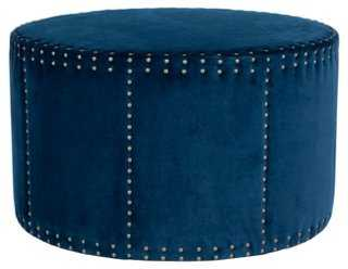Sarah Ottoman, Navy Velvet - One Kings Lane