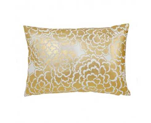 "GOLD FLEUR PILLOW - 14"" x 20"" - Insert Sold Separately - Caitlin Wilson"