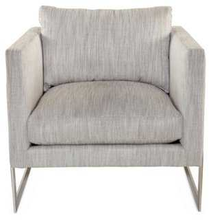 Geneva Accent Chair, Smoke - One Kings Lane