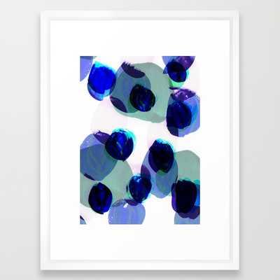 "blue dots - VECTOR WHITE MEDIUM (GALLERY) (20"" X 26"") - Society6"