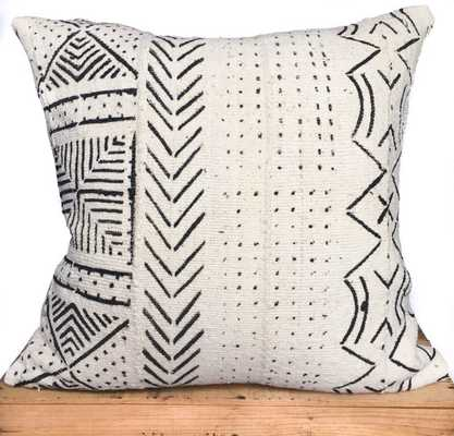 """African Mud Cloth Pillow Cover 18"""" inch White (No Insert) - Etsy"""