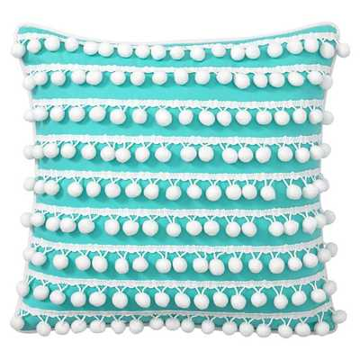 """Poolside Pom Pom Pool 16"""" Pillow Covers - Insert sold separately - Pottery Barn Teen"""