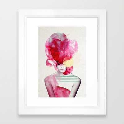 "Bright Pink - Part 2 - FRAMED ART PRINT/ VECTOR WHITE MINI (10"" X 12"") - Society6"