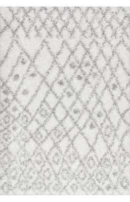 Jarrett Shaggy - WHITE - 8x10' - Loom 23