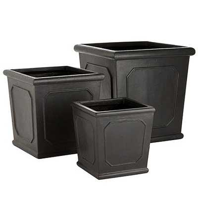 Rodin Square Planter - Zinc - Medium - Ballard Designs