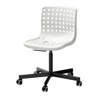 SKÃ…LBERG / SPORREN Swivel chair, white, black - Ikea