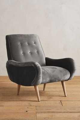 Slub Velvet Losange Chair - Anthropologie
