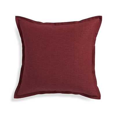 Linden Merlot Red Pillow - Crate and Barrel
