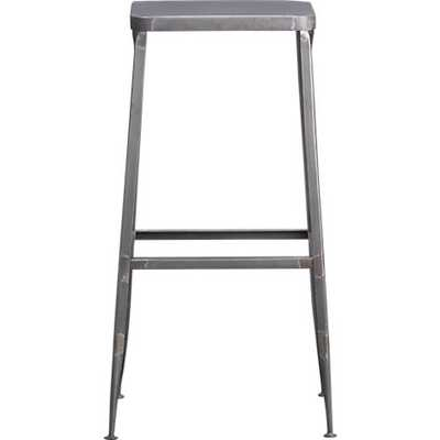 "flint steel 24"" counter stool - CB2"