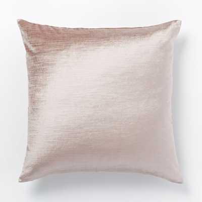 """Cotton Luster Velvet Pillow Cover - Dusty Blush- 20""""x20"""" - Insert sold separately - West Elm"""