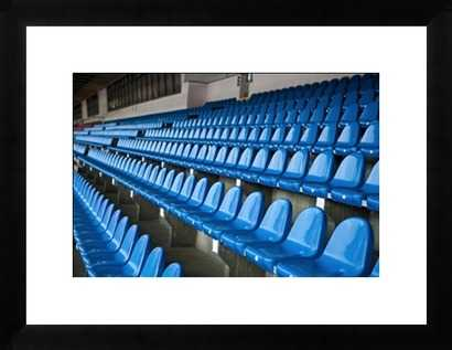 Blue Stadium Seats- 37x 28- Framed - Photos.com by Getty Images