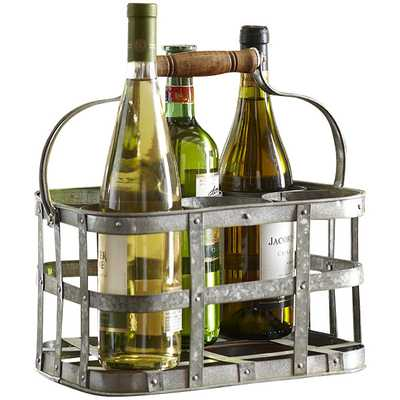 Galvanized 6-Bottle Tabletop Wine Rack - Birch Lane