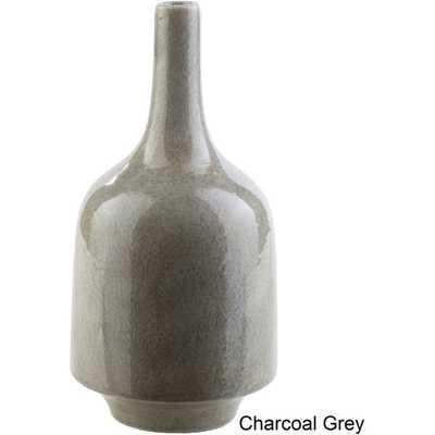 Landon Ceramic Medium Size Decorative Vase - Grey - Overstock