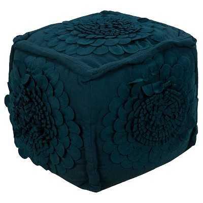 "Tulsi Floral Pouf - Dark Blue - 18"" Cube - Target"