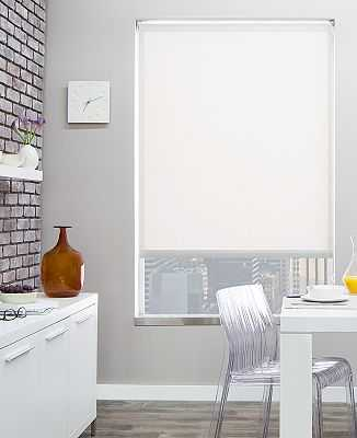 """Solar Shades - 3%  White - 34 ¾"""" W 34"""" L  (Left position) - The Shade Store"""