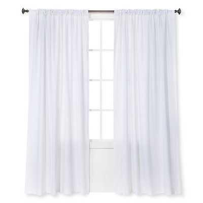 "Thresholdâ""¢ Curtain Panel Linen-Look - White - 54""Wx 84""L - Target"