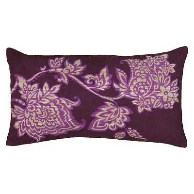 """Rizzy Home Printed Pillow - Purple/ivory - 11x21"""" - Polyester insert - Target"""