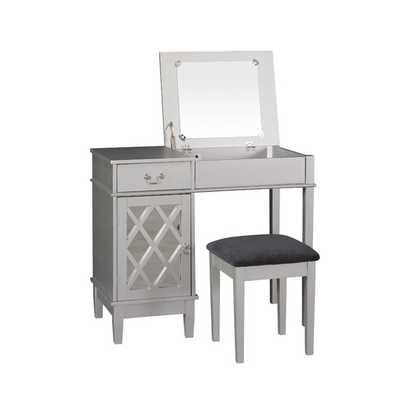 Lattice Vanity Set with Mirror - AllModern