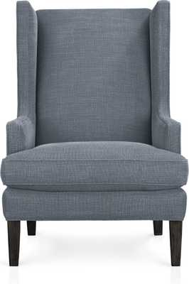 Luxe Wing Chair - Slate - Crate and Barrel