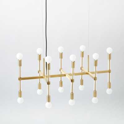 Acrylic Framework Chandelier – Antique Brass - West Elm