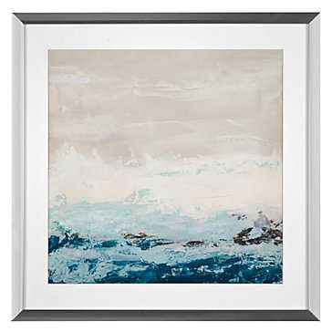 Coastal Currents 1 - 23.25x23.25 - Framed with Mat - Z Gallerie