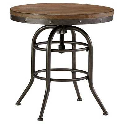 Vennilux Round End Table Grayish Brown - Target