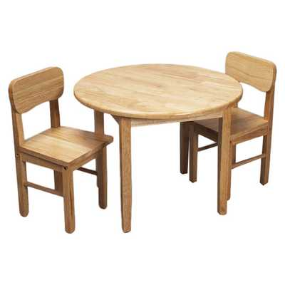 Kids 3 Piece Table and Chair Set - Natural - AllModern