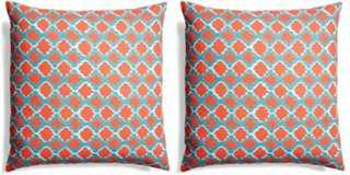 S/2 Lively Cotton Pillows - One Kings Lane