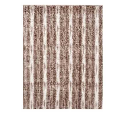 """FAUX FUR OVERSIZED THROW, 60 X 80"""", CARAMEL OMBRE - Pottery Barn"""