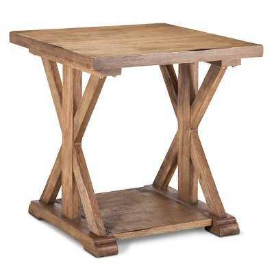 Farmhouse End Table - Wood - Target