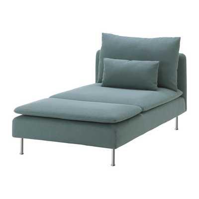 SÖDERHAMN Chaise, Finnsta turquoise - Ikea