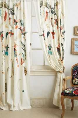 "Nests & Nectar Curtain - Multi - 50""W x 108""L - Anthropologie"