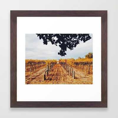 """Vines - 12"""" x 12"""" - Conservation Walnut Frame - Society6"""