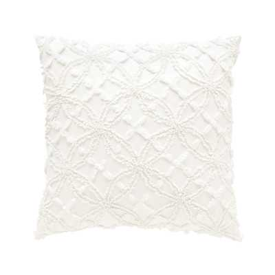 "Candlewick Cotton Throw Pillow - 18"" - Feather / Down insert - Wayfair"