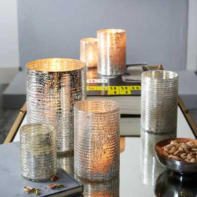 Crackle Ribbed Hurricanes - Small - West Elm